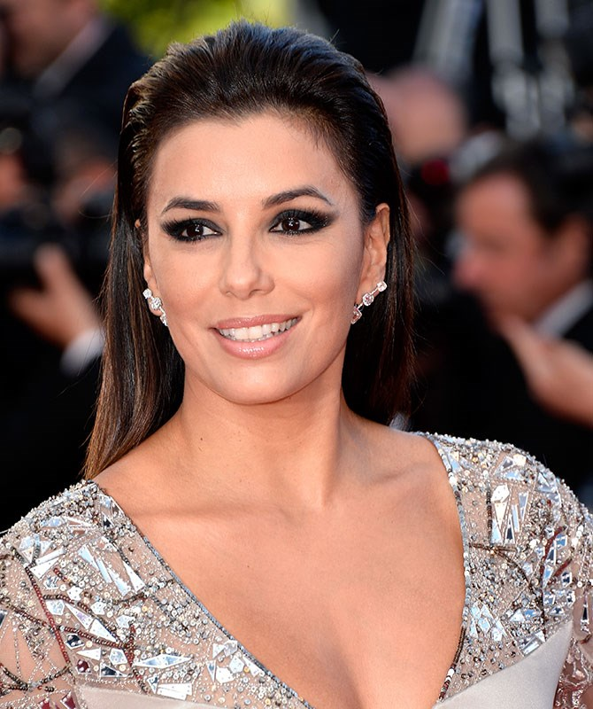 Eva Longoria's eyes are NEXT LEVEL.  For f*#%-off-huge-lashes (bigger than Kanye's ego), apply several coats of mascara and falsies. Balance your eyes with a nude gloss on your lips.