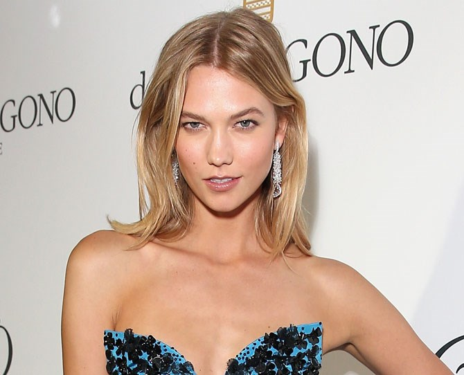 Sunday brunch face sorted thanks to Karlie Kloss. You only need four products: BB cream, blush, mascara and balm.