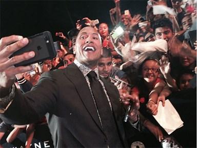 Dwayne Johnson just broke the celebrity selfie record