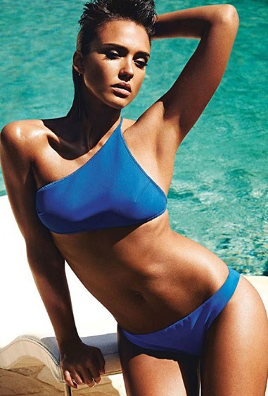 HOT DAYUM, Jessica Alba. The actress looks hotter than the sun in these new shots for *Shape* magazine.