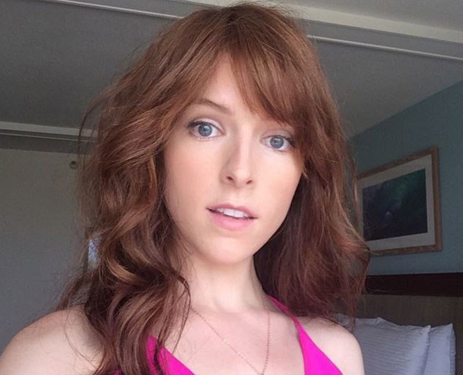Say hello to Anna's sexy new bangs and ~ViBrAnT~ colour for her upcoming flick, *Mike and Dave Need Wedding Dates.*