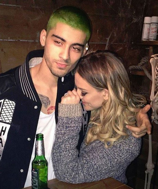 His hair now looks like Eminem went swimming in WAY too much chlorine. We're not sure how to feel anymore, but obvsfiancéPerrie Edwards is still on board.