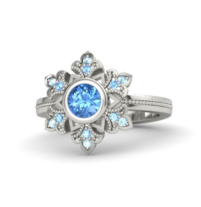 Icy, snowflake jewellery can only be for one Princess, of course Elsa.