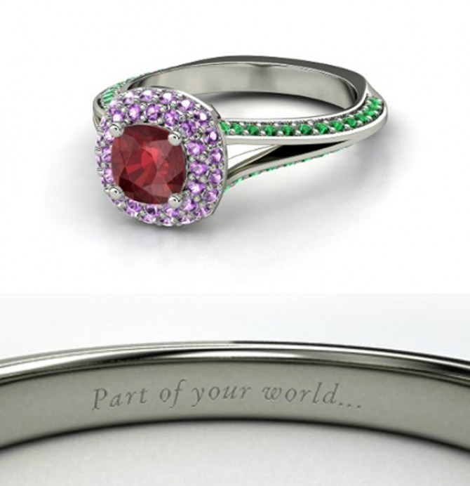We can totally imagine an ocean-sized ruby on Ariel's petite finger.