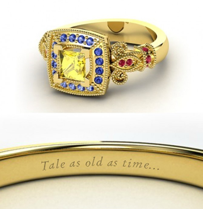 Belle's ring is totally fit for a royal with LOADS beastly jewels.