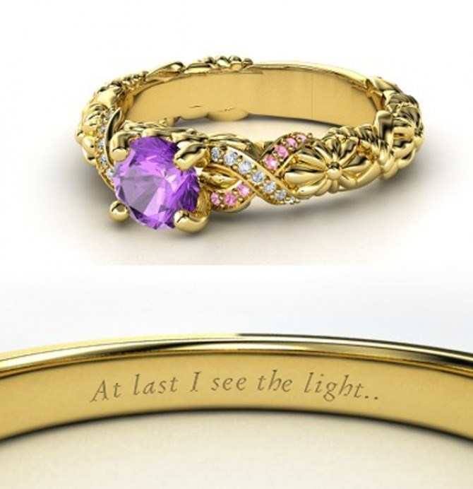 We can't get enough of Rapunzel's INCRED ring – we're pinning this shiz immediately.