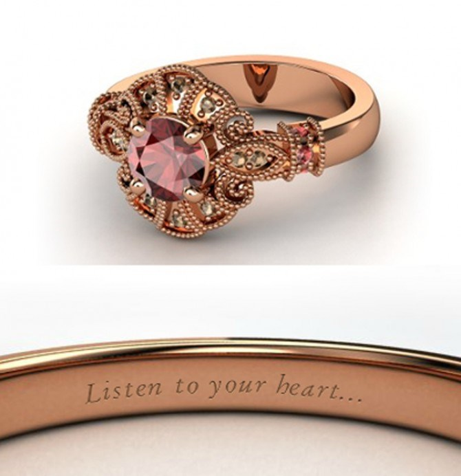 If John Smith got down on one knee with this rose gold ring, we'd be head over heels. Lucky Pocahontas.