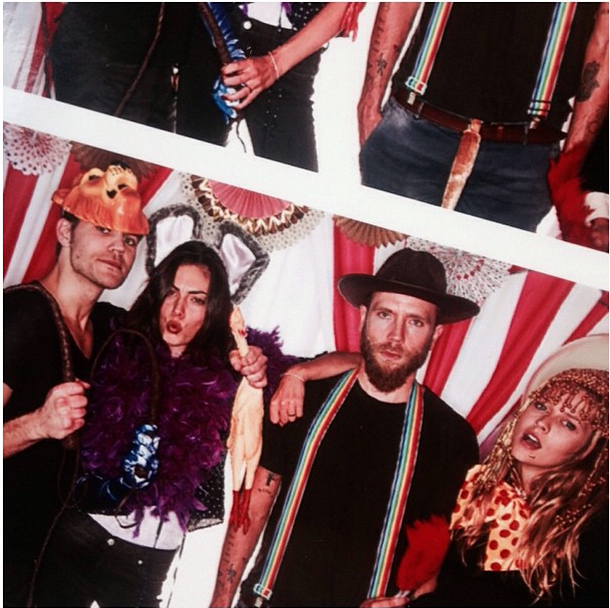 """Clearly a favourite of Taylor's, the party included an animal/circus/theatrical themed photobooth.   *""""@phoebejtonkin: BFF'S @paulvedere @likemark @tez_palmer thanks @jaime_king & @kyle_newman and congrats ! xx 💋""""*"""