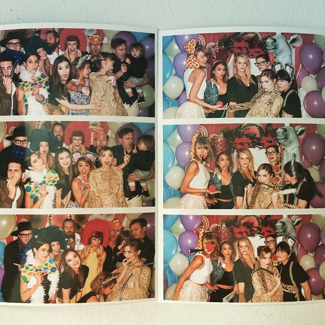 """After hopping on a red eye flight after her 1989 show, Taylor managed to be the hostess with the mostess. But srsly. How lucky is this child going to be with Godmother Swifty in da house?!   *""""@jaime_king: Lovin*'"""""""