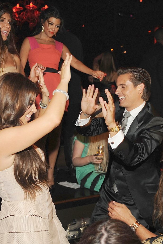 16. Putting their hands in the air like they just don't care to celebrate Kimmy's hens back in 2011.