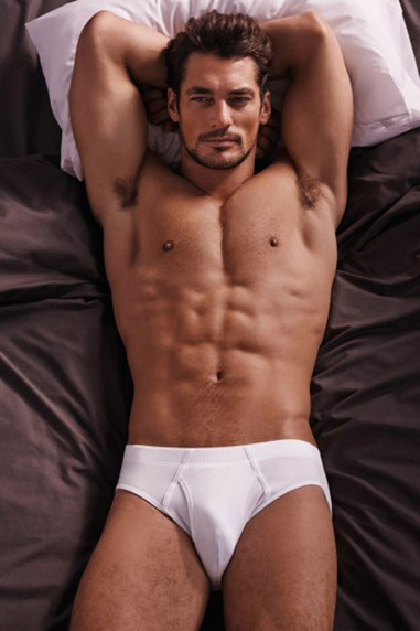 Let's just say there's more than one reason why David Gandy is the world's first male supermodel.