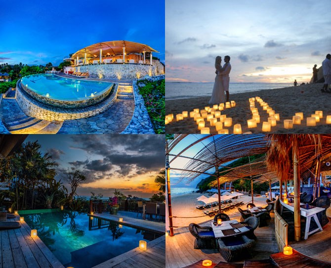 "**For the couple who wants total relaxation…** ***[Karma Kandara](https://www.karmakandara.com/|target=""_blank""): Nr Uluwatu (prices from $388 per night for a 1 bedroom pool villa, breakfast included)*** If you're after five-star and your main holiday aim is to avoid lifting a finger, the luxury Karma Kandara resort near Uluwatu ticks both of those boxes. The resort boasts modern private villas (all with private pools and local monkeys roaming your balconies, natch), the sea-view infinity pool OF YOUR DREAMS, a sunset bar, fine-dining restaurant, private beach and awesome beach bar with regular DJs. And don't even get us started on the spa set on the side of a cliff, where you can enjoy a couples massage with an ocean view. What more could you want in life? Nothing? Thought not."