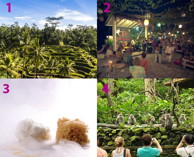 "**Where to eat/drink:** The food at the resort is really excellent, otherwise Ubud is full of hidden treasures – so have a stroll, wander and prepare for pleasant surprises all round! Bars like [CP Lounge](http://cp-lounge.com/|target=""_blank"") (2) and [The Jazz Café](http://jazzcafebali.com/