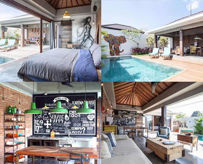 "**For the cool couple who likes all things hipster...** ***[4Quarters](http://www.4quartersbali.com/|target=""_blank""), Canggu (prices from $225 per night, breakfast included)*** Canggu is being cited as the next Seminyak, so if you're all about the 'up and coming' and discovering things first, this is your place. 4Quarters villas are decked out in the way we ALL wish our houses were. With heaps of quirky personality and modern touches you won't find in many other Balinese villas."