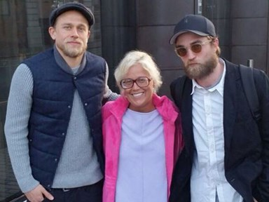 One lucky fan ran into Robert Pattinson and Charlie Hunnam at the same time