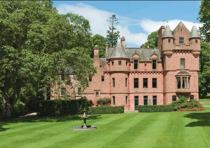 If she *does* purchase the Tower of Lethendy which is located about a 90 minute drive from Edinburgh, where Calvin's family call home, it will set her back about $9.8 million AUD. Casual.