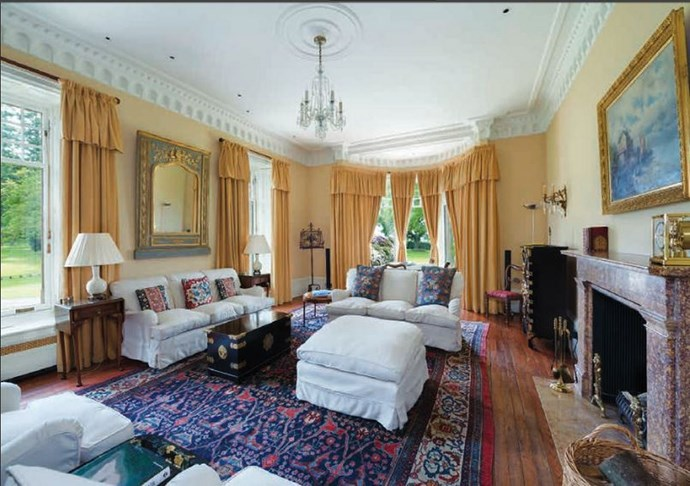 We can totally imagine Taylor and Calvin getting cosy in front of the fireplace in this fancy room.