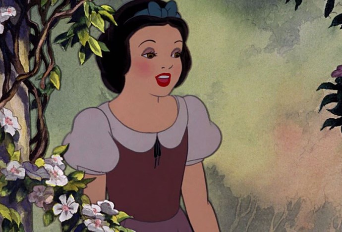 Snow White *always* has a full face, which is surprising given she shares a bathroom with seven others.