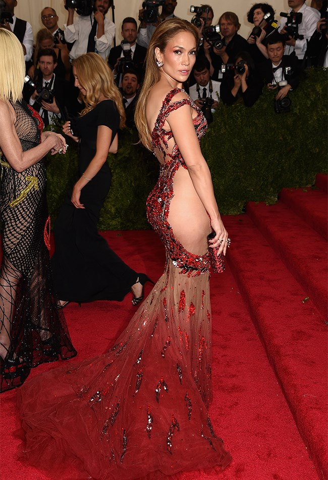 Kim and Beyoncé who? Her red hot Versace Met Gala gown was the naked dress of the night, in our opinion.