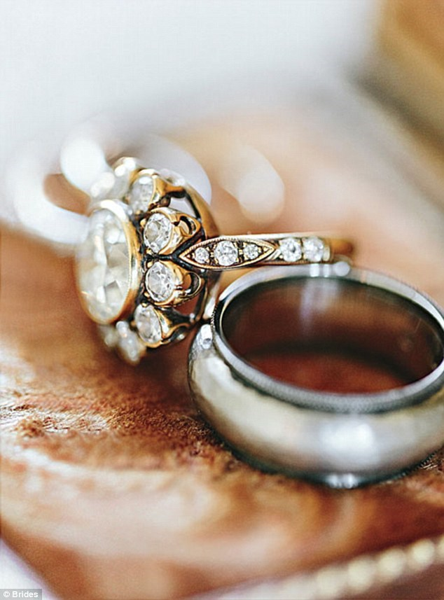 """And how could we forget that magical vintage style ring of hers? [Bling](http://www.cosmopolitan.com.au/bride/fashion-and-beauty/accessories/2015/8/best-celebrity-wedding-bling/
