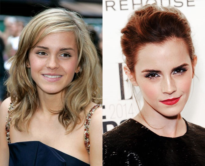As Emma Watson matured, so did her brow styling.