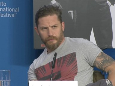 Tom Hardy totally shuts down a reporter who asked about his sexuality