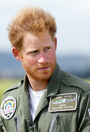 *Beard alert* We are LOVING the facial fuzz on His Royal Hotness.
