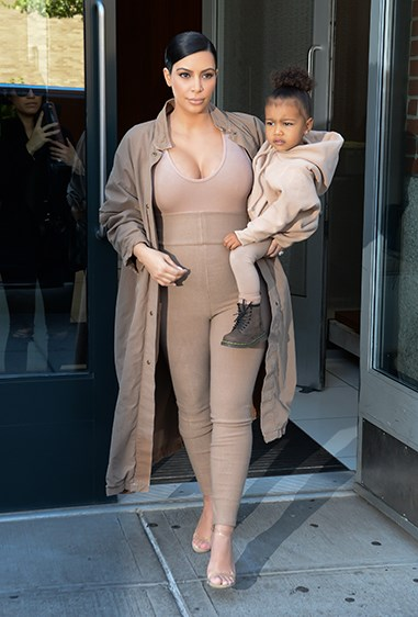 Kim & North team up in matching nude tones