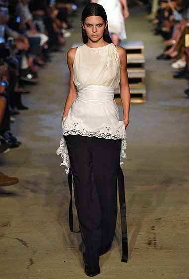 Kendall OWNED the Givenchy runway in this elegant monochrome look