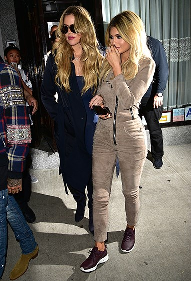 Kylie's suede pilot jumpsuit was just BEYOND