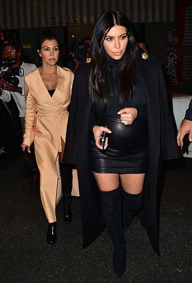 Kourtney was #stylegoals in this champagne wrap-around dress