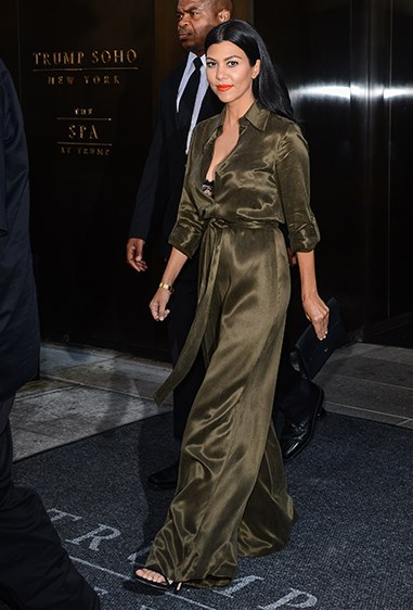 And Kourtney converted us to inead-to-toe khaki satin (no small feat)