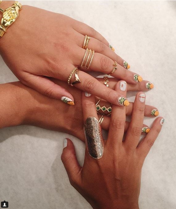 """6. Tiny Pineapples at Zang Toi Via [@opi_products](https://instagram.com/opi_products/ target=""""_blank"""")"""