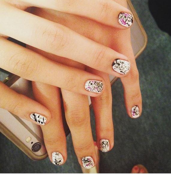 """33. Paint-Splattered Nails at Nicole Miller Via [@nailitmag](https://instagram.com/nailitmag/ target=""""_blank"""")"""