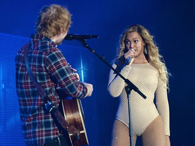 Beyoncé brought Ed Sheeran out to perform 'Drunk in Love' for her Global Citizens Festival performance