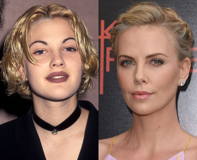 "**3. Thin eyebrows THEN and NOW** Thin eyebrows were having a major moment back in the '90s (see: Drew Barrymore), and although bushy eyebrows are still HUGE (no pun-intended), Charlize Theron proves you can still have shapely, finer eyebrows. [And they were EVERYWHERE at London Fashion Week.](http://www.cosmopolitan.co.uk/beauty-hair/beauty-trends/news/a38695/skinny-brows-trend-back/|target=""_blank"")** **"