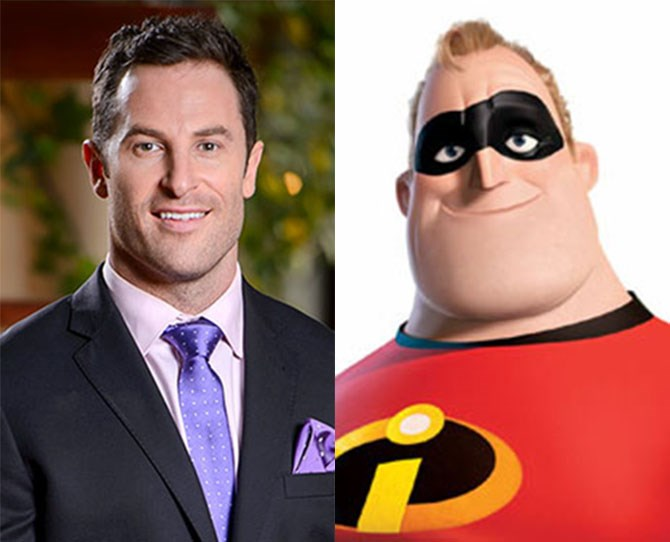 **5. Sasha *IS* Mr Incredible** Were these guys separated at birth or what?** **