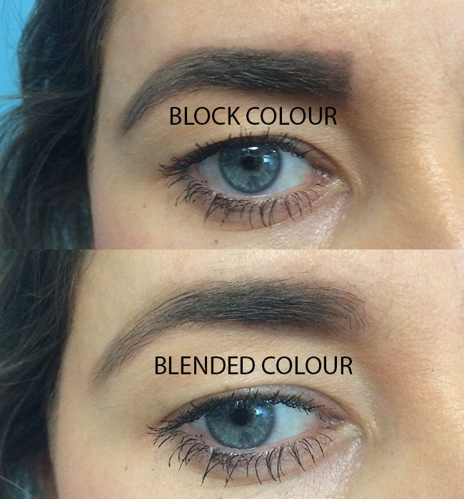 **4. ...Your eyebrows will be one block colour.** They should be slightly lighter in the inner corners (where you're generally sparser), slightly heavier through the middle and arch where you have more hairs, and lighter again towards the end of your tail.