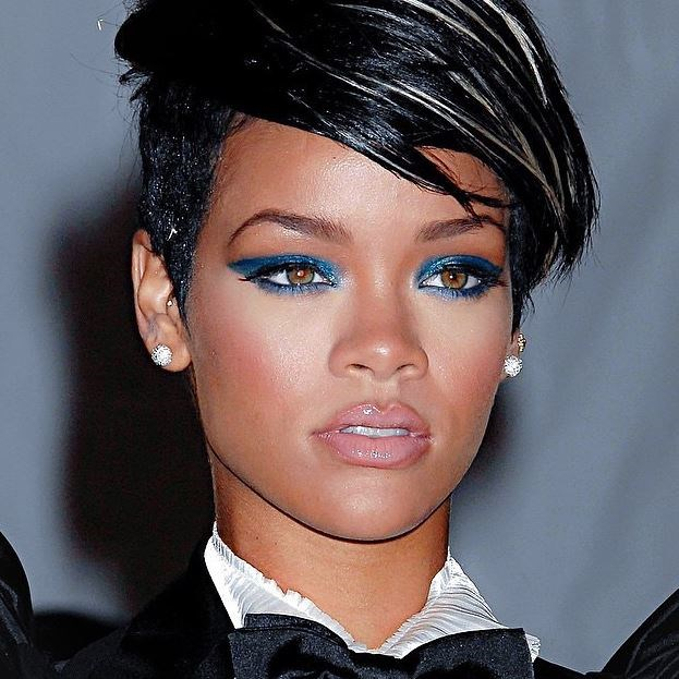 **12. Different shapes call for different products.** If your eyebrows are sparse like Riri's, use a pencil, crayon or wax to define your shape instead of a powder. If you use powder alone through sparse eyebrows it will most likely fall out because there's nothing for the powder to grip.