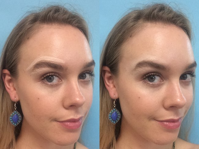 **13. Highlighter is your brow's BFF.** To create the illusion of a higher arch, gently press highlighter underneath your arch and along your top line.