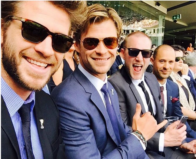 A brotherly outing to the AFL final.