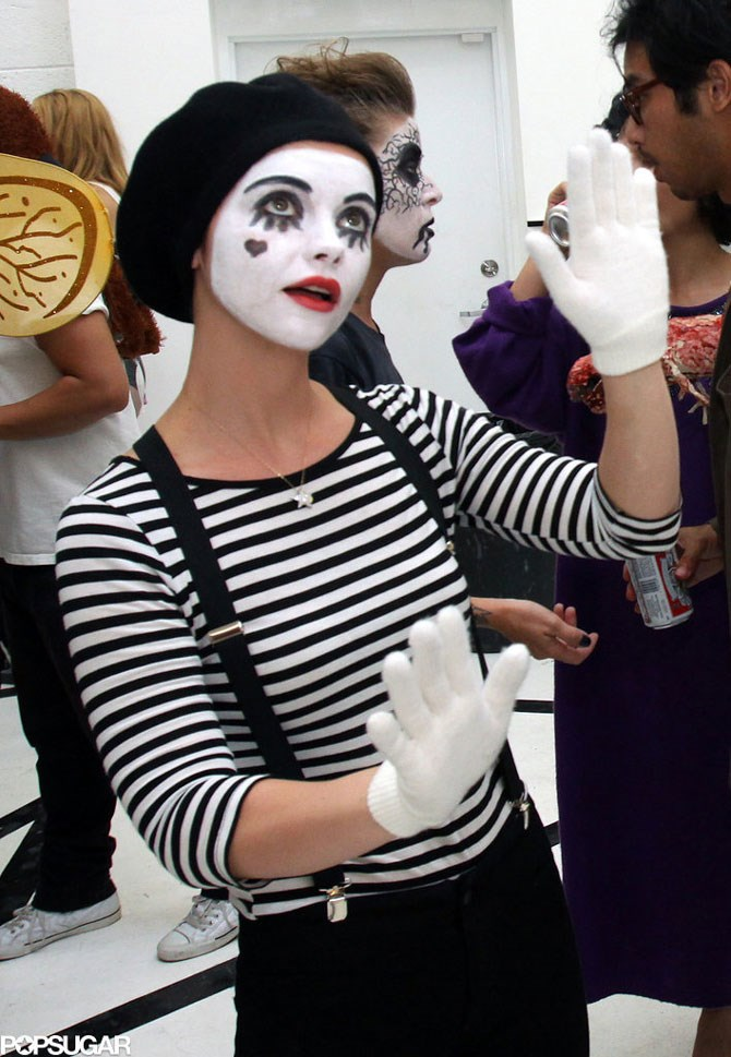 **A mime**  The best part about Christina Ricci's mime costume is that if you end up standing next to someone you really don't want to talk to you can just BECOME the character, be silent and make weird hand gestures until they freak out and leave.