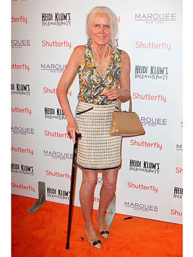 **A granny**  Heidi Klum is actually a BOSS at [Halloween costumes](http://www.cosmopolitan.com.au/fashion/what-to-wear/2014/10/a-timeline-of-heidi-klums-best-halloween-costumes/) and this one is no exception. If you go down this road be warned, you may actually scare people out of spending the rest of their lives with you. It's a shock no one is ready for.