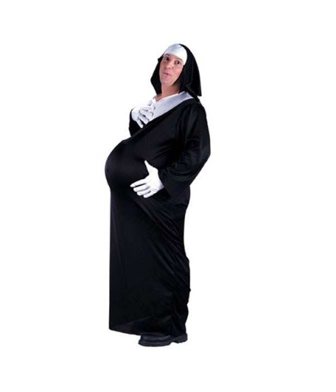 **A pregnant nun**  OK so the pregnant part may lead some to think that there is some element of sexiness to it, but really it just creeps us the F out.