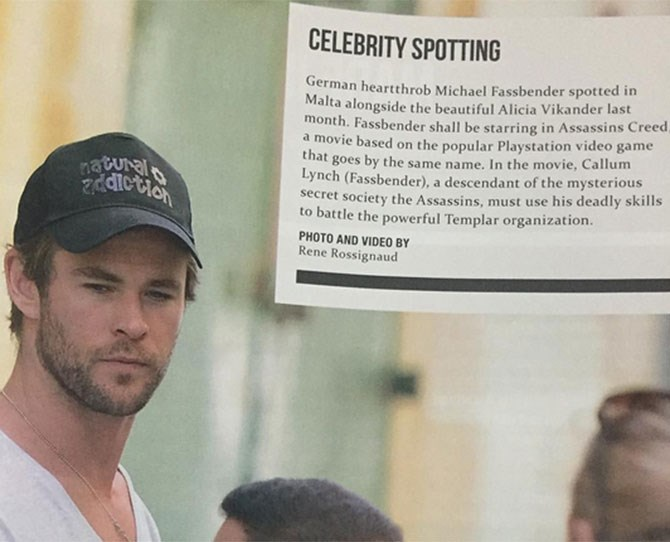When Chris Hemsworth made a funny.