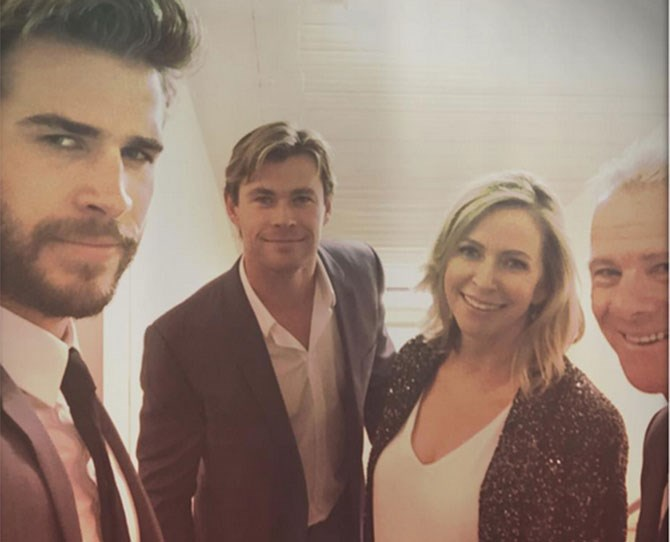 *Hemsworth parent klaxon* The two people who made it all possible.