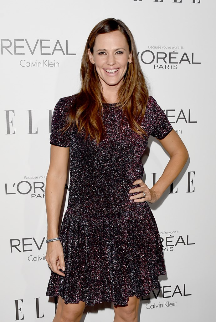 "Having a husband (now ex, sob) in the same bizz, it was easy for Jennifer Garner to identify just how different the questions they get asked on the press junket were. At ELLE's annual Women in Hollywood event she served up this awesome realness: ""Every single person who interviewed me - and this is true of the red carpet here tonight, Elle - asked me, 'How do you balance work and family?' and he said the only thing that people asked him repeatedly was about the tits on the 'Blurred Lines' girl, which, for the record if we're talking about them, they are real and they are fabulous... As for work-life balance, he said no one asked him about it that day. As a matter of fact, no one had ever asked him about it. And we do share the same family. Isn't it time to kinda change that conversation?"""