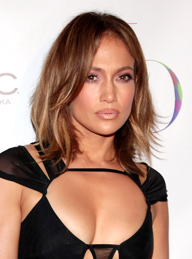 8. Take your nude lip to the next level like Jennifer Lopez and contour a little. Line your lips with a darker shade and apply a creamier, lighter hue within the liner. Blend the two colours with a clear gloss.