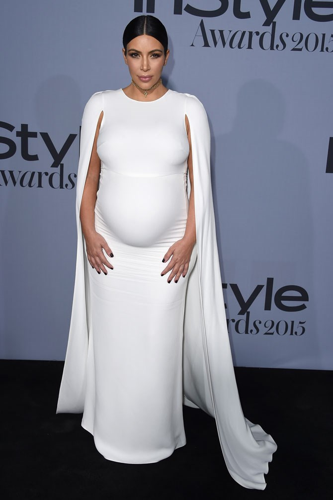 PRAISE HANDS EMOJI! This is the hottest maternity look we have ever seen Kim wear, and trust us, there's [been a LOT.](http://www.cosmopolitan.com.au/fashion/fashion-trends/2015/9/kim-kardashian-maternity-wardrobe/)