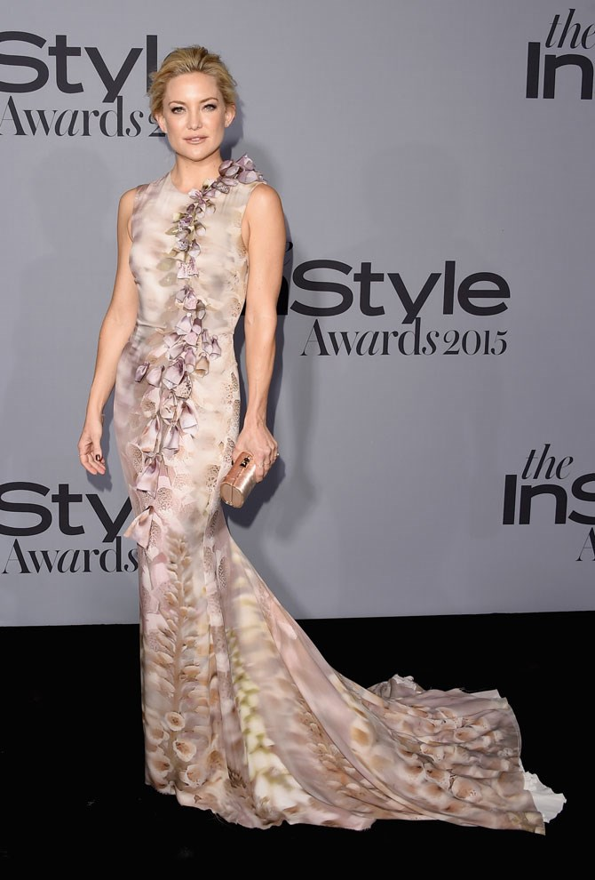 Could Kate Hudson be any more beautiful?! This blush toned, floral gown was an absolute show-stopper.